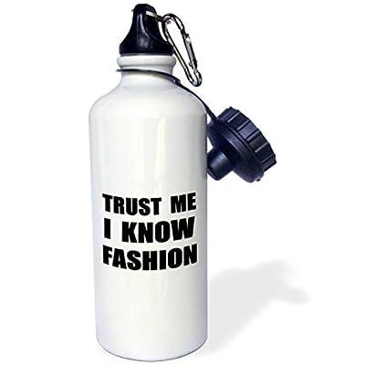 Zhaoshoping Trust Me I Know Mode Fun Fashionista et design Humour funny Sports Bouteille d'eau en acier inoxydable Bouteille d'eau pour femme homme enfants 400ml