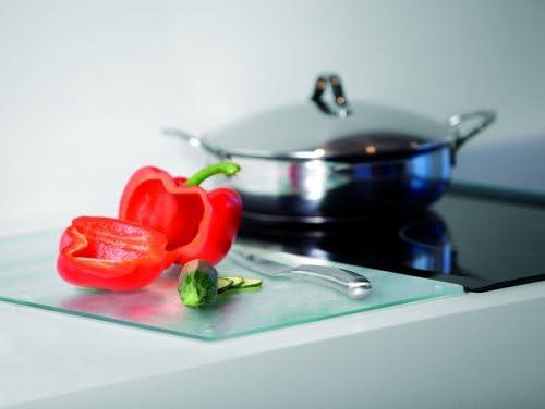 Electrolux 4055024865 - Tabla de Cristal multifunción: protección para cocinas, Tabla de Cortar, Apoyo de recipientes Calientes, con Tacos de Goma ...