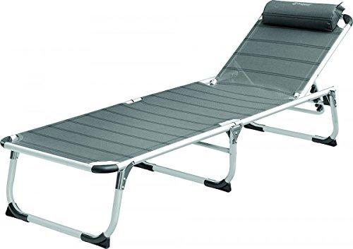 Silla de camping + reposapiernas + cojín cervical - Aluminio ...