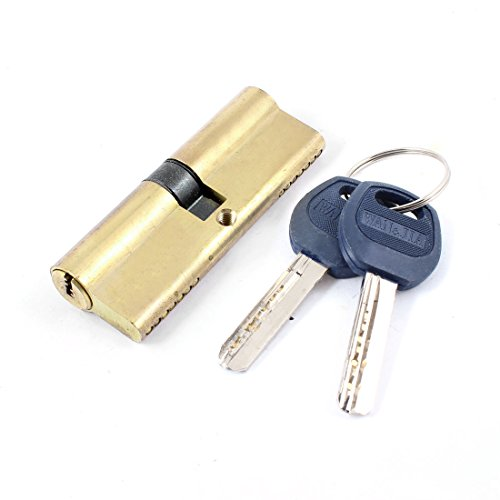 uxcell Home Gold Tone Metal Safety Home Door Lock Cylinder w 8 Keys by uxcell