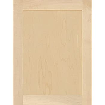 Unfinished Maple Shaker Cabinet Door By Kendor, 24H X 18W