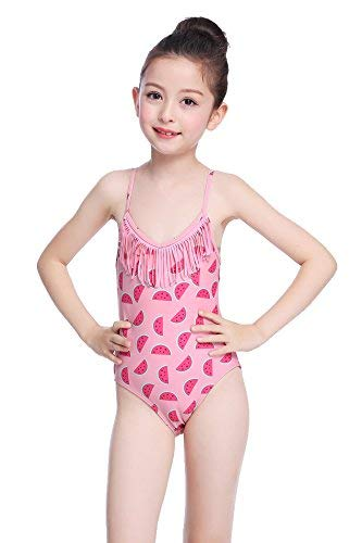 Swimsuits Bathing Suits Fringe Girl's Print SHEKINI Tankini Pink Little Piece Watermelon One Zvqz8