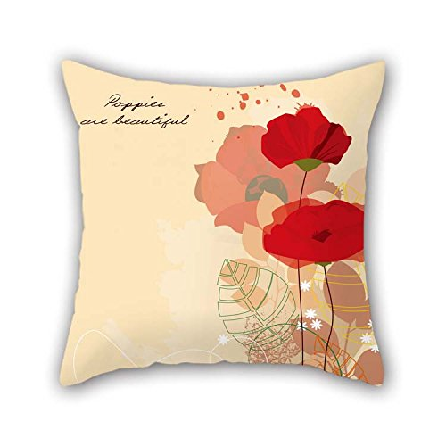 beeyoo The Flower Throw Cushion Covers of 18 X 18 Inches / 45 by 45 cm Decoration Gift for Boys Indoor Festival Valentine Boys Relatives (2 Sides)