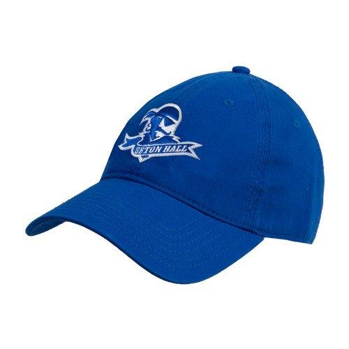 だますファブリック廃棄Seton Hall Royal Twill Unstructured Low Profile帽子「公式ロゴ」