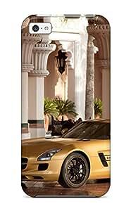 Best Premium 2010 Mercedes Benz Sls Amg Desert Gold 4 Back Cover Snap On Case For Iphone 5c