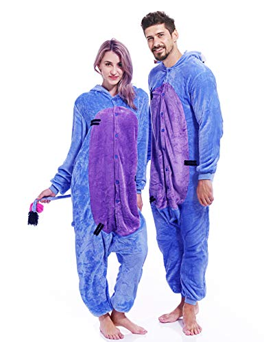 vavalad Unisex Adult Onesie Pajamas Plush One Piece Animal Cosplay Costume for Women Men Teens