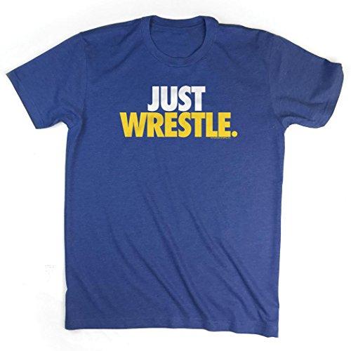 Just Wrestle T-Shirt | Wrestling Tees by ChalkTalk Sports | Royal | Adult Medium