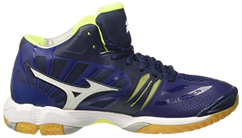 Bluedepths Wave Multicolore Mizuno Tornado Safetyyellow de Volleyball White Chaussures Homme Mid 8xq0xTd