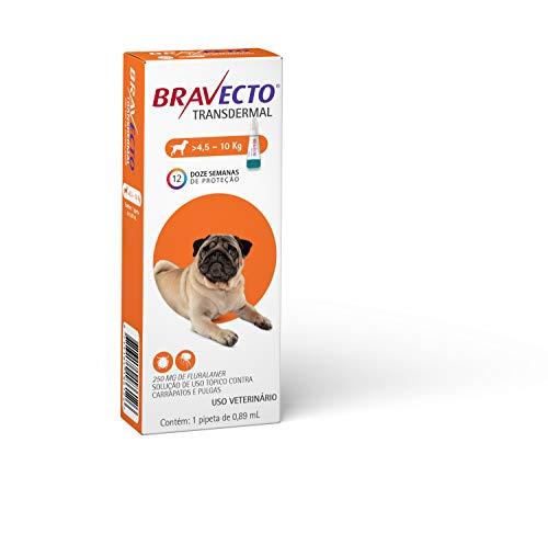Antipulgas e Carrapatos Bravecto MSD para Cães de 4,5 a 10 kg - 1 Pipeta de 0,89ml