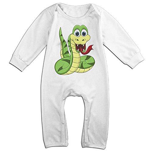 Haru Cartoon Snake Newborn Babys Long Sleeve Romper Bodysuit Outfits White 24 Months