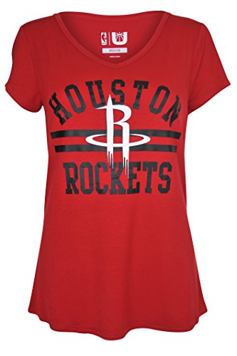 NBA Houston Rockets Women's T-Shirt Relaxed Short Sleeve Tee Shirt, X-Large, Red