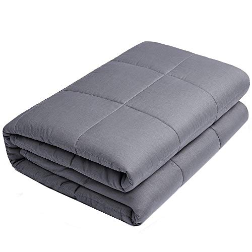Cheap Anjee Weighted Blanket - Premium Heavy Blankets for Great Sleep | 100% Cotton Material with Glass Beads (48 x 72 Inches 15 lbs for 130-150 lbs Individual Grey) Black Friday & Cyber Monday 2019