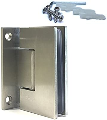 Cristal bisagras 90 ° orientable Vidrio Puerta de ducha cierre ...