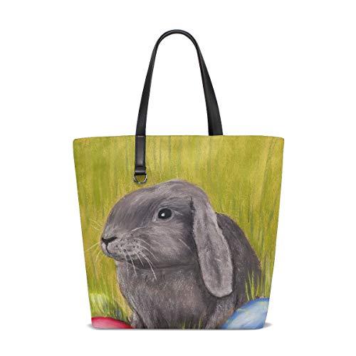 Easter Bunny Painting Tote Bag Purse Handbag Womens Gym Yoga Bags for Girls 20409c1a94a67