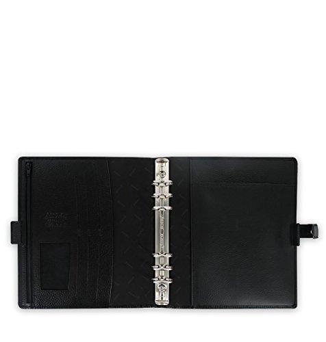 Royaume Réf A5 025371 import Noir Finsbury Framboise Uni Cuir Organiseur Filofax aSqxdUU