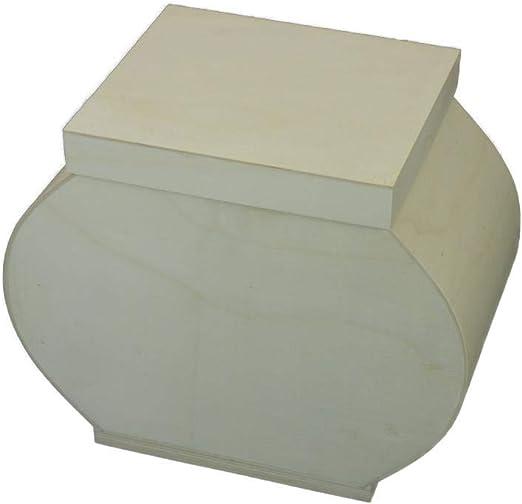 Caja Ovalada grande. En madera para decorar. Medidas (ancho/fondo/alto): 35 * 20 * 28 cms.: Amazon.es: Hogar