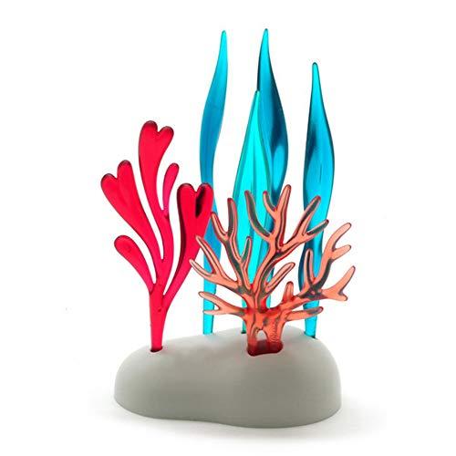 Bright Vivid Coral Fruit Fork Set Creative Plastic Cake Topper Dessert Toothpick ()