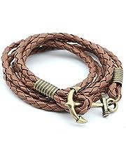 Pu Leather Bracelet For Men-Brown