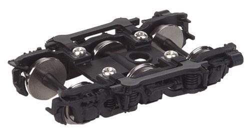 Pullman Trucks - GSC 11' Six-Wheel Trucks - Pullman-Standard Super Dome -- Black - 1 Pair