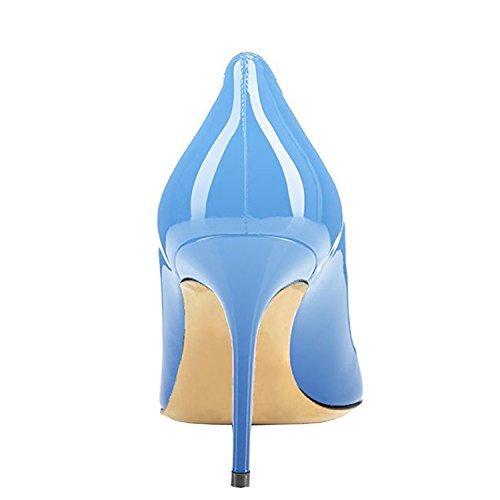 Luistaa Lovirs Juhlamekko Stiletto Puolivälissä Office Basic Pumppujen Kaltevuus Naisten Toe Sinisellä Teräväkärkiset Kantapää Kengät qRFwtRZr