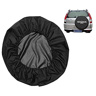 Spare Tire Cover Leather Car Truck SUV Camper for Honda CRV CR-V Size M R15 235/65R17 255/65R16 235/75R15 245/70R15 255/65R16 (Diameter 28inch-30inch): Automotive
