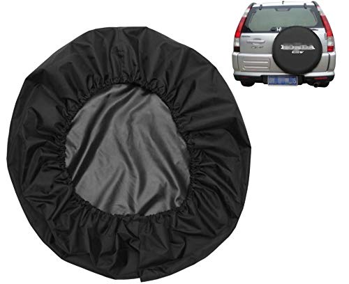 Spare Tire Cover Leather Car Truck SUV Camper for Honda CRV CR-V Size M R15 235/65R17 255/65R16 235/75R15 245/70R15 255/65R16 (Diameter 28inch-30inch)