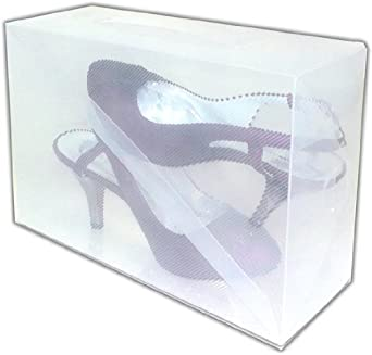 Interhome - Surtido de 15 cajas apilables para zapatos (30 x 18 x 10 cm