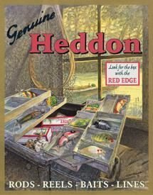 - Heddon Fishing Tackle Box Lures Tin Sign by Poster Revolution