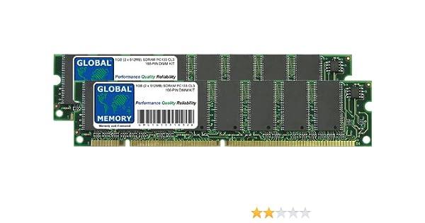 GLOBAL MEMORY 1 GB (2 x 512 MB) SDRAM PC133 133 133 133 MHz 168 Pines DIMM Kit de Memoria RAM para Yamaha Tyros 2 y 3 Teclas de Synthesizer: Amazon.es: ...
