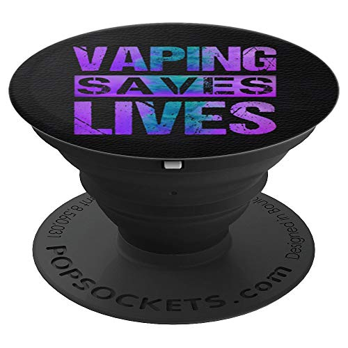 Vaping Saves Lives Purple Teal Adults Like Flavors Vape Ban PopSockets Grip and Stand for Phones and Tablets (Best Vape Mod For Clouds And Flavor)