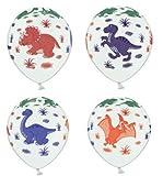 10 Luftballons Dinosaurier Motiven bunt 30cm