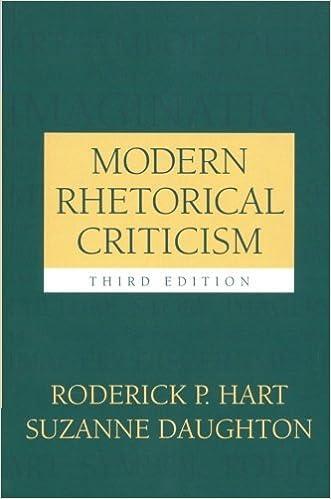 Book Modern Rhetorical Criticism by Roderick P Hart (2004-10-12)
