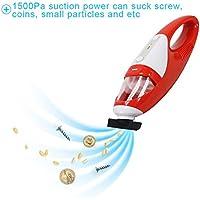 FINE Dragon Cordless Mini Handheld Vacuum Cleaner Portable Auto Handheld Mini Car Vacuum - Red