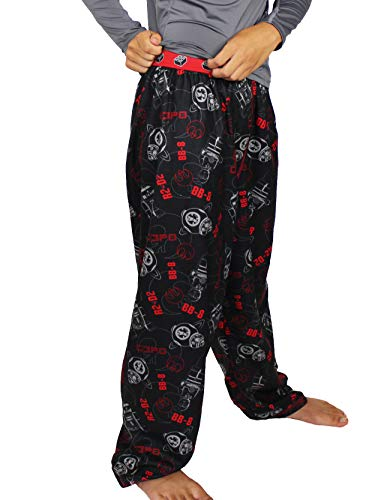 LEGO Star Wars Boy's Flannel Pajama Pants (14-16, Black/Red)