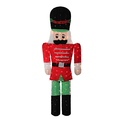 - Northlight 6' Pre-Lit Candy Cane Lane 2-D Toy Soldier Christmas Outdoor Decoration