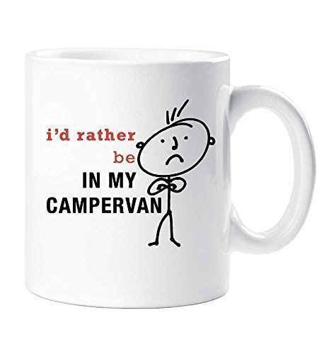 Men's I'd rather Be In My Campervan Mug Camping Gift Cup Ceramic Dad Uncle Grandpa Fathers Day Birthday Christmas 60 Second Makeover Limited