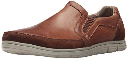 Rockport Men's Bowman Double Gore Slip On Shoe, Boston Tan Leather, 9.5 W - Brown Rockport