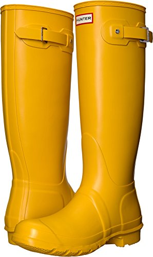 Hunter Women's Original Tall Yellow Rain Boots - 8 B(M) - Hunter Yellow Rain Boots