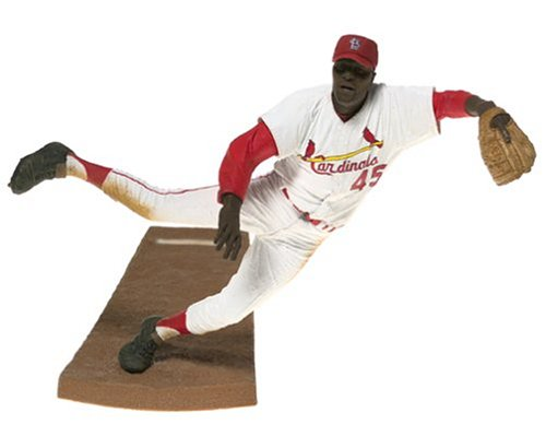 McFarlane Toys MLB Cooperstown Collection Action Figure Bob Gibson White Jersey