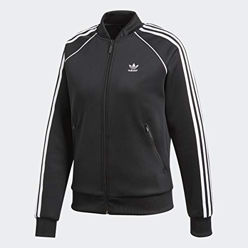 adidas Originals Women's Superstar Tracktop, Black, L (Sweat Adidas Jacket)