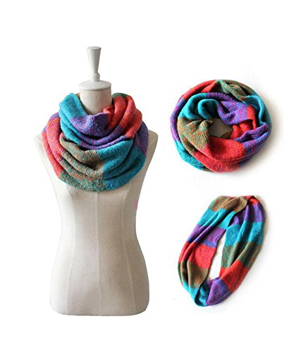 New Women New Fashion Mix Colors Ring Knitted Wool Neck Cowl Wrap Thicken Winter Warm Circle