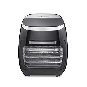 Image of Hamilton Beach 11.6 QT Digital Air Fryer Oven with Rotisserie and Rotating Basket, 8 Pre-Set Functions including Dehydrator, Roaster & Toaster, 1700W, Black (35070) Home and Kitchen