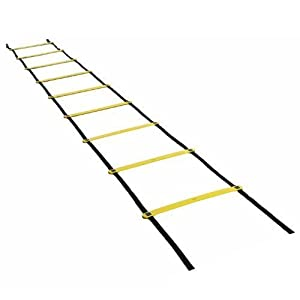 Agility Ladders,Cozyswan Speed and Agility Training Ladder Team Sports Training Equipment with Carry Bag (Yellow 12 rungs)