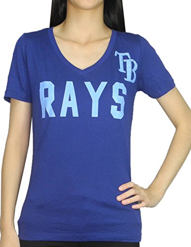 Womens Pink Victoria's Secret TAMPA BAY RAYS V-Neck T Shirt / Tee M Blue
