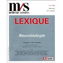 LEXIQUE DE NEUROBIOLOGIE
