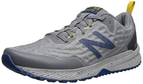 New Balance Men's Nitrel V3 Running Shoe, Grey/Blue, 9 M US