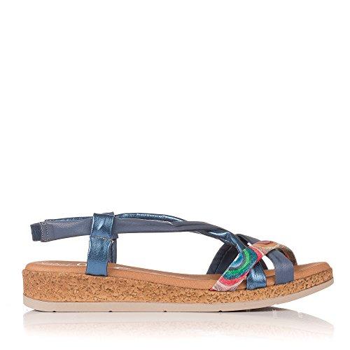 Bleu Sandale Sandals My Peau Oh 3869 gawxRq8