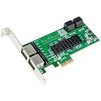 SYBA SI-PEX40072 4 Internal + 4 External 8 Ports PCI-Express x2 Slot Specification V2.0 Interface SATA-3 Controller Card RAID 0 RAID 1 HyperDuo