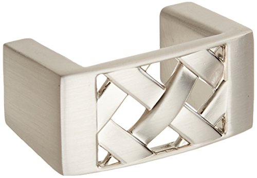 Atlas Homewares Lattice - Atlas Homewares 309-BRN 1.6-Inch Lattice Knob from the Lattice Collection, Brushed Nickel