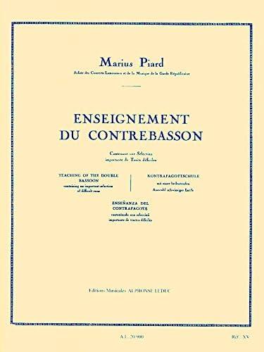 Piard Enseignement Du Contrebasson Methodes Contra Bassoon Book